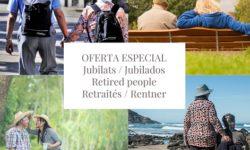 Escapada especial jubilats – Primavera 2021